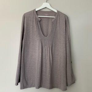 Loft | 100% Cotton Tunic | Grey | Size XL